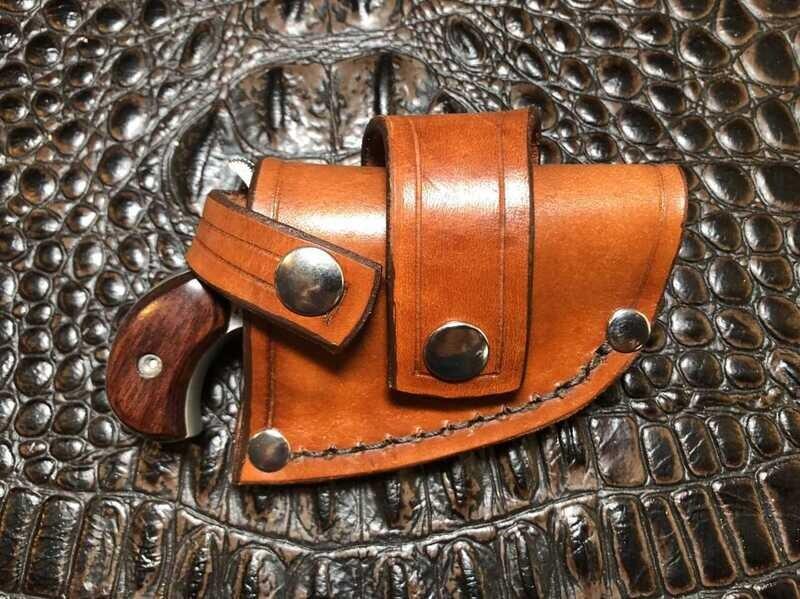 NAA Mini & Magnum Leather CROSSDRAW DRIVING Holster (TAN)