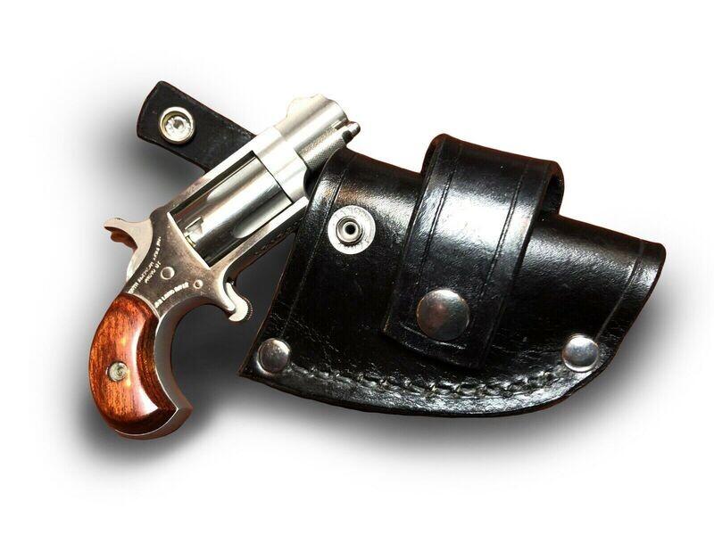 NAA Mini & Magnum Leather CROSSDRAW DRIVING Holster (RH) (BLACK)