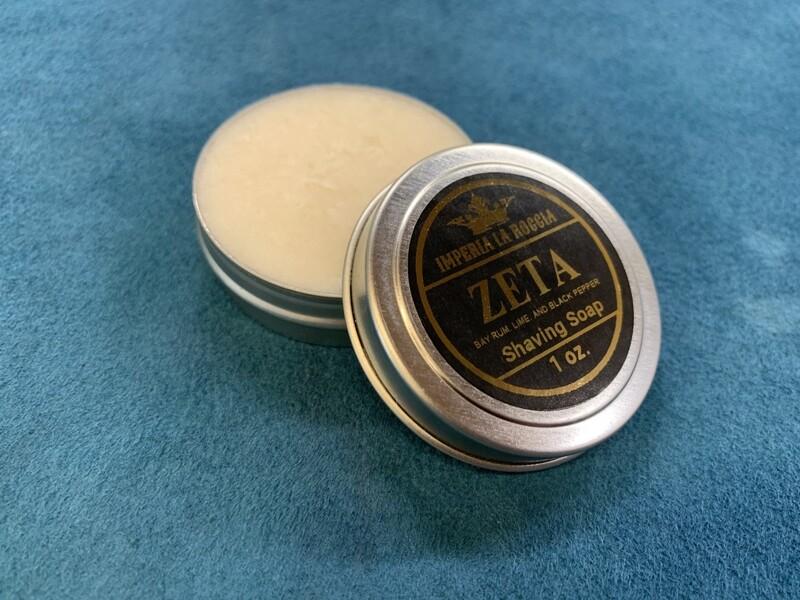ILR ZETA Shave Soap 1 oz. (Bay Rum, Lime and Black Pepper)