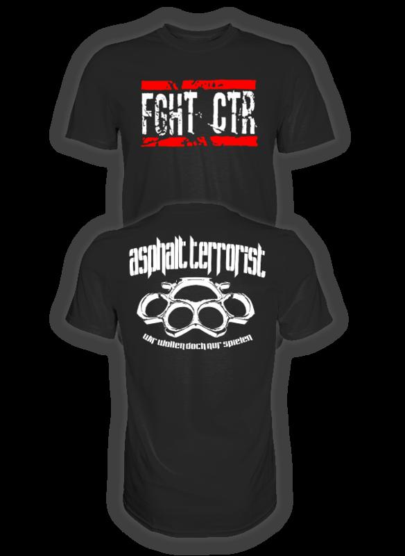 ASPHALT TERRORIST FIGHT COUTURE 2 T-SHIRT