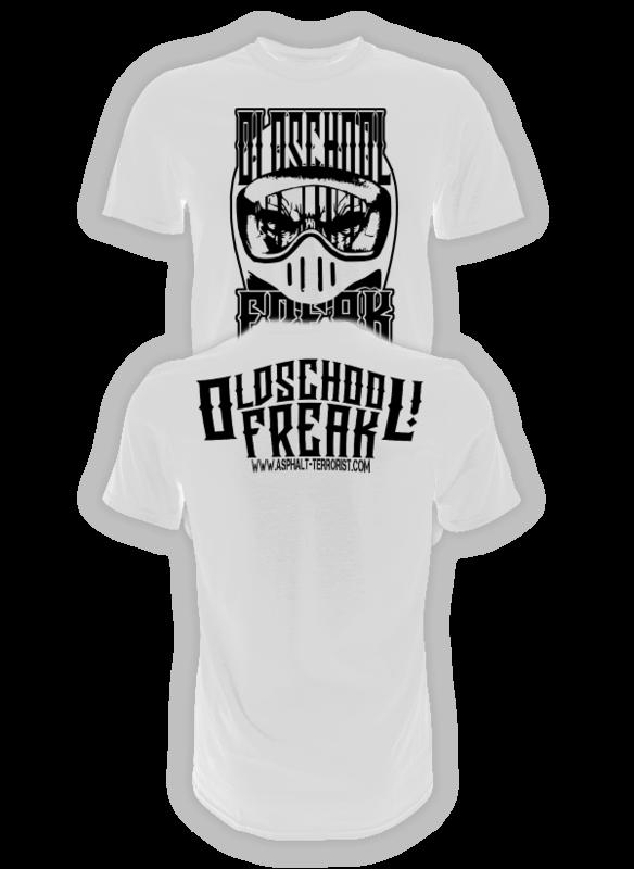 ASPHALT TERRORIST OLDSCHOOL FREAK 2 T-SHIRT weiß