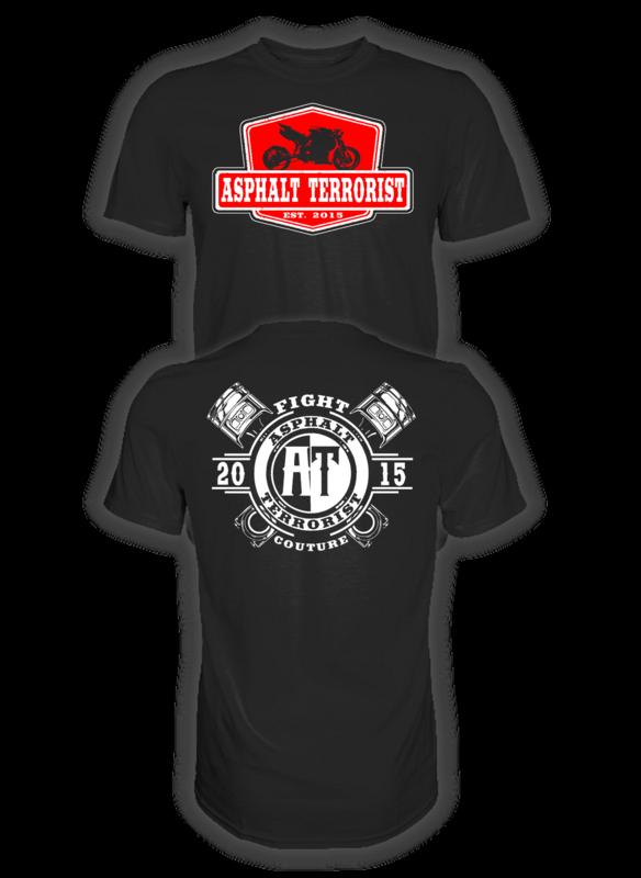 ASPHALT TERRORIST RETRO T-SHIRT