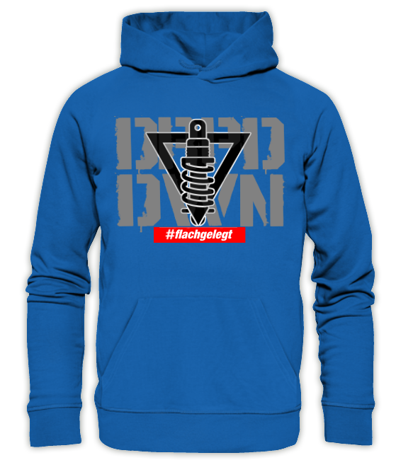 DRPD/DWN #flachgelegt Hoodie blau