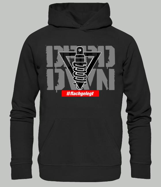 DRPD/DWN #flachgelegt Hoodie schwarz