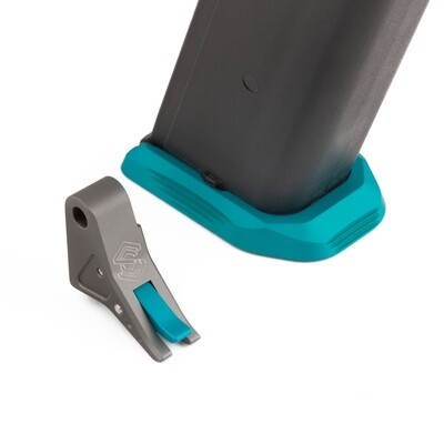 """""""SAGISI SQUEEZY"""" Trigger/Basepad Combo (Grey Shoe/Teal Safety)"""
