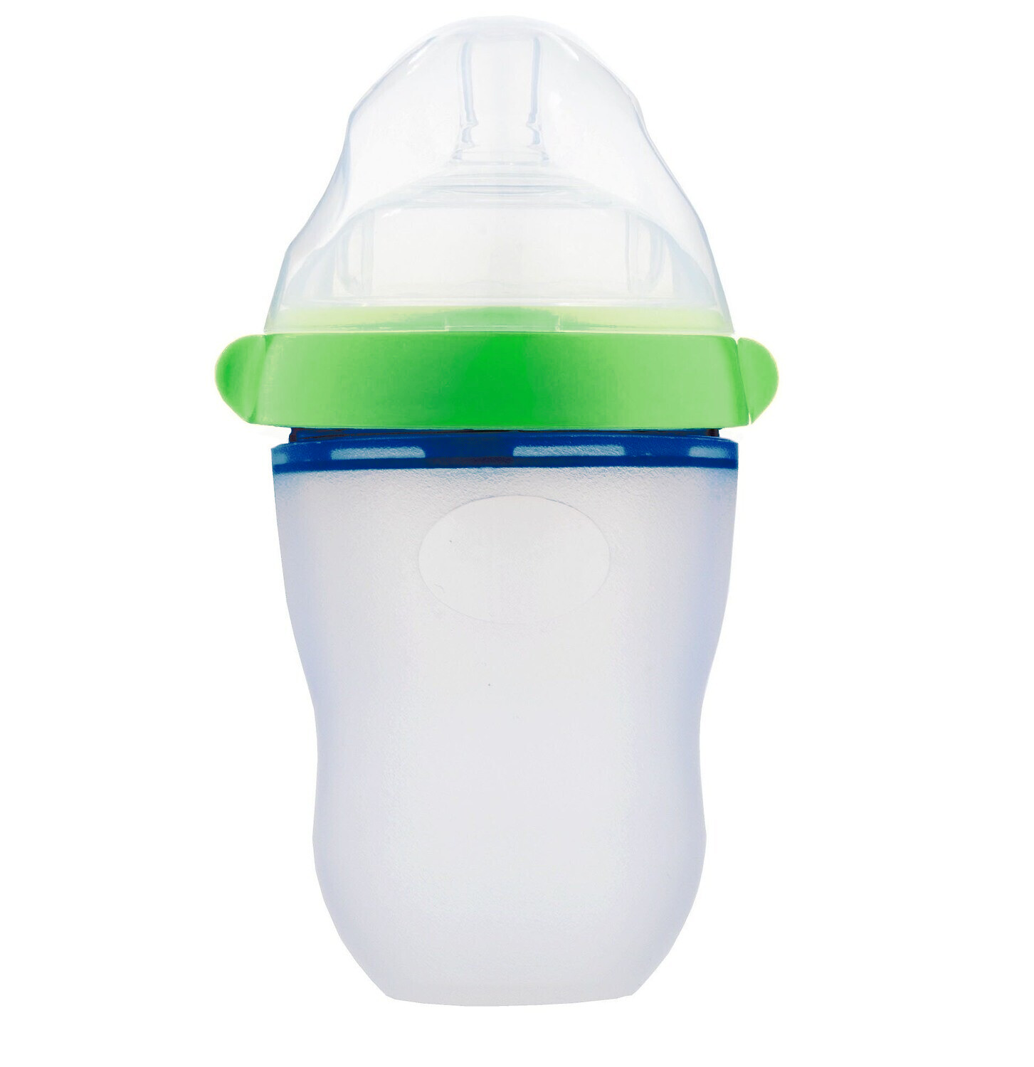 230ml Green Natural Flow Silicone Bottle (Mint Green)