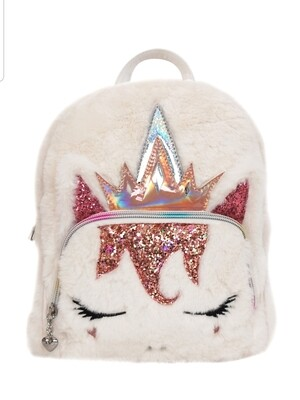 Unicorn Furry Mini Backpack (clearance)