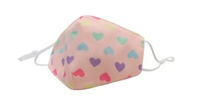 Pastel Rainbow Heart Mask