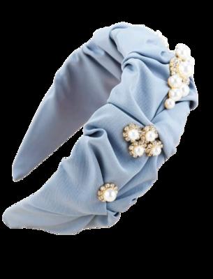 Royalty Blue Pearl Girls Headband