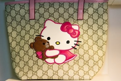 GG Inspired Hello Kitty Tote