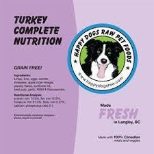 TURKEY COMPLETE - Meat, Organ, Bone, Veggies, Supplements