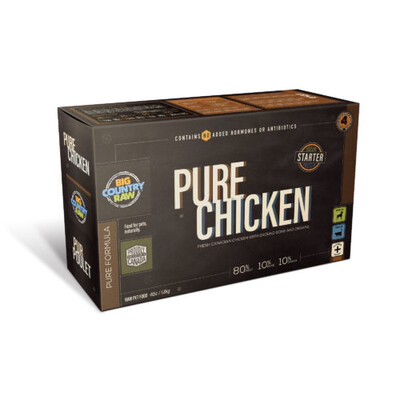 PURE CHICKEN 4LB - Meat, Organ, Bone Only
