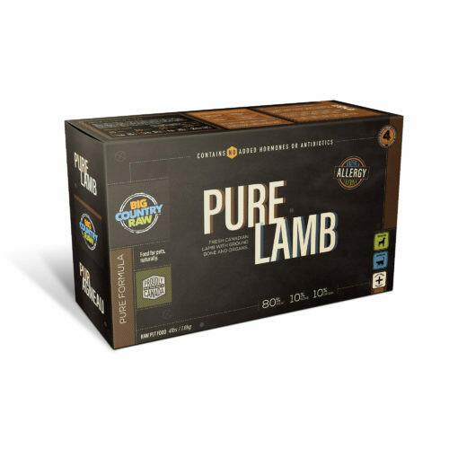 PURE LAMB 4LB - Meat, Organ, Bone Only