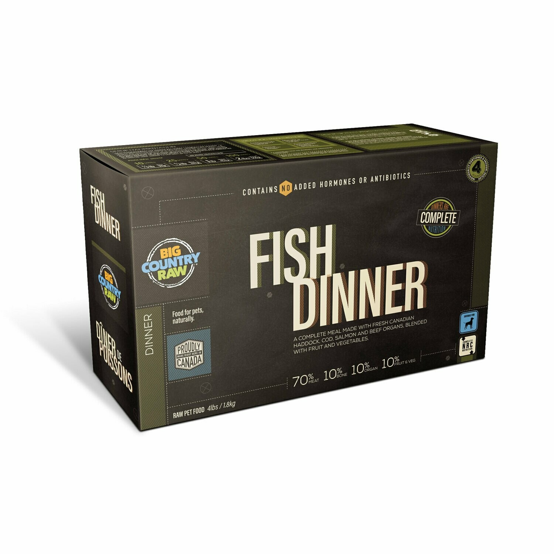 FISH DINNER 4LB - Meat, Organ, Bone, Fruit/Veggie
