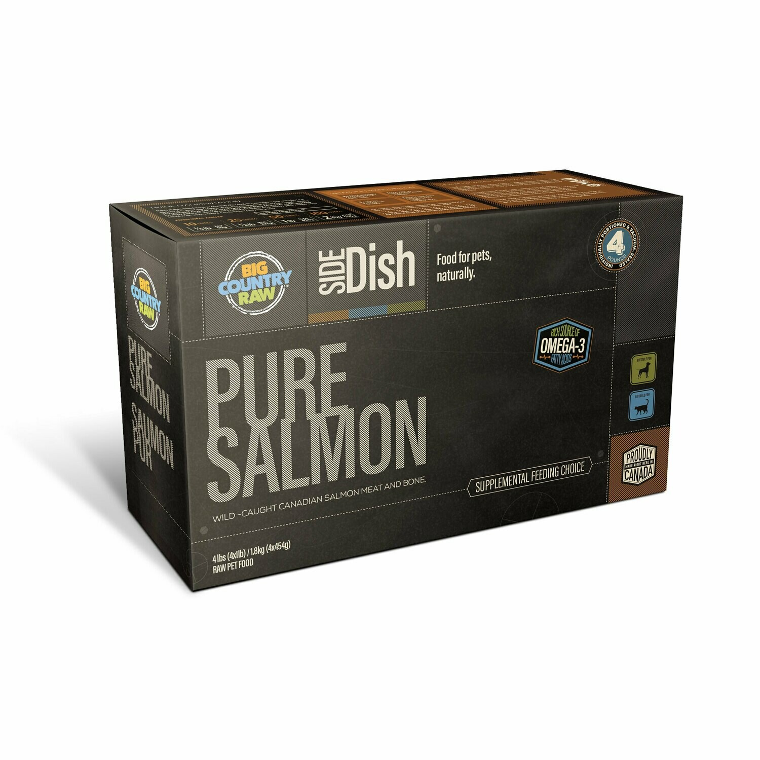 PURE SALMON 4LB - Meat, Organ, Bone Only