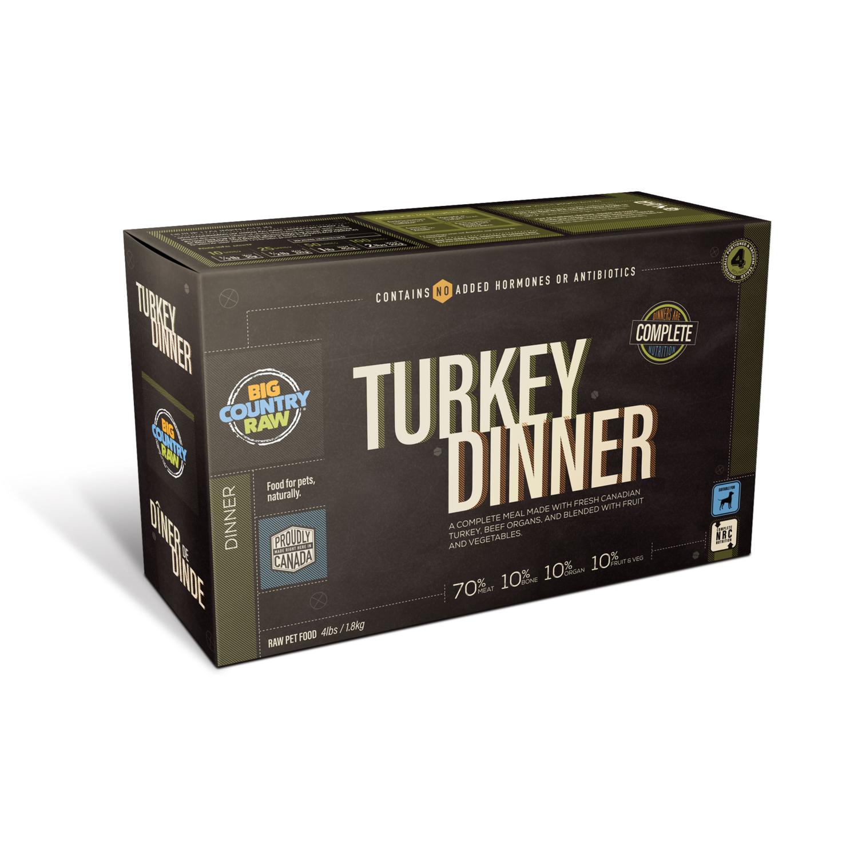 TURKEY DINNER - Meat, Organ, Bone, Fruit/Veggie
