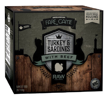 TURKEY SARDINES with BEEF 2LB - Meat Bone Organ Only