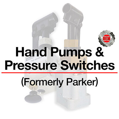 Part Number List for ALL Hand Pumps & Pressure Switches (Formerly Parker). For price and availability contact sales@qccorp.com or call 708-887-5400 Ext. 2.