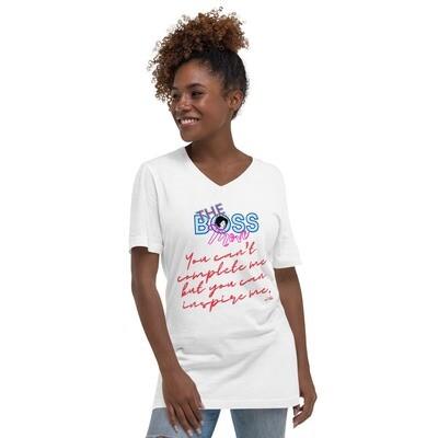 Inspire Me-Unisex Short Sleeve V-Neck T-Shirt