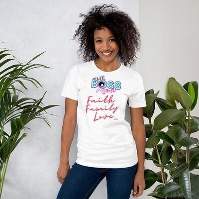 Faith, Family, Love-Short-Sleeve Unisex T-Shirt