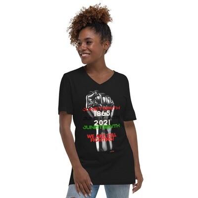 Juneteenth-Unisex Short Sleeve V-Neck T-Shirt