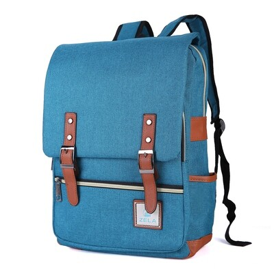 Slim Backpack ,School and Business Fits 15-inch Laptop-Peacock Blue