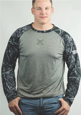 CAMO LONG SLEEVE RAGLAN SHIRT - FEED YOUR URGE