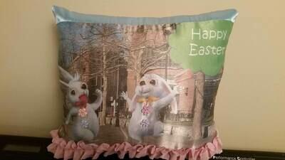 Easter Bunny/springtime pillow 003