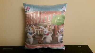 Easter Bunny/Springtime pillow 009