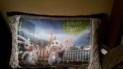 Easter Bunny/Springtime pillow 012