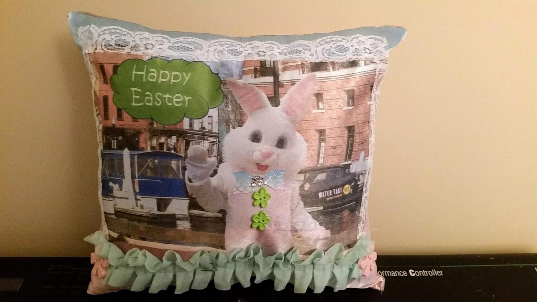 Easter Bunny/Springtime pillow 008