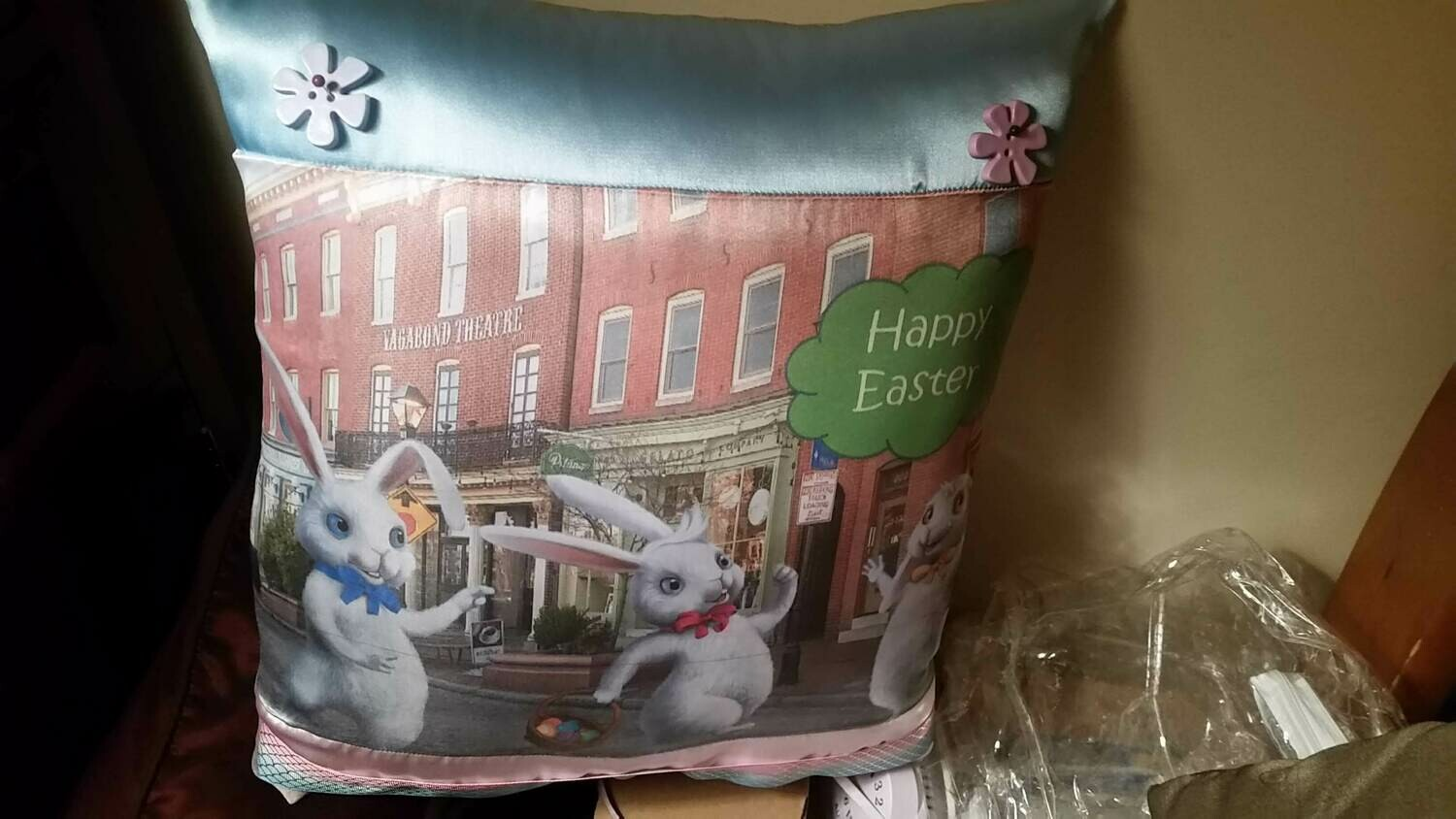 Easter Bunny/Springtime pillow 013