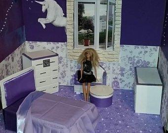 Purple Galaxy Unicorn Doll House 001