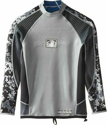 Body Glove Men's Silver/Black Super Rover Reversible Short Sleeve Surf Shirt