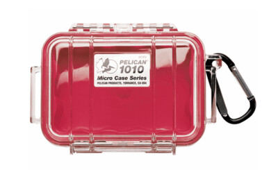 Pelican 1010 Micro Case Clear with Red Liner