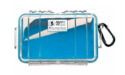 Pelican 1050 Micro Case Clear with Blue Liner