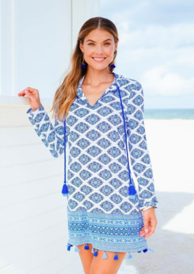Cabana Life Batik Hooded Cover Up