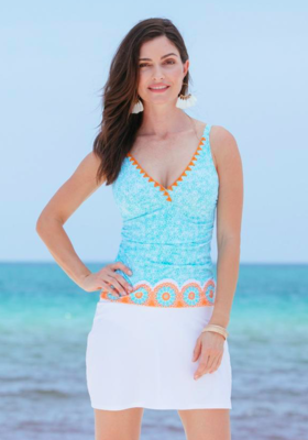 Cabana Life White Swim Skirt