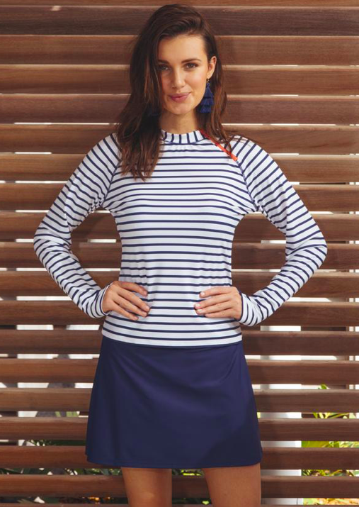 Cabana Life Navy Swim Skirt