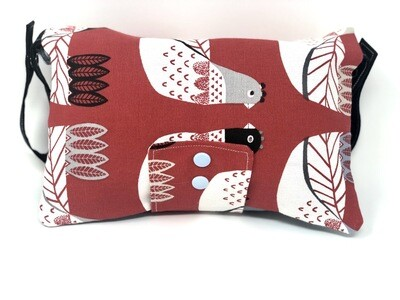 Red Piegons Nappy Clutch