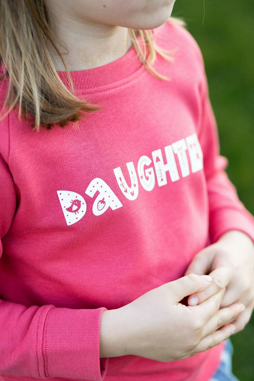 Organic 'Daughter' Slogan Sweatshirt