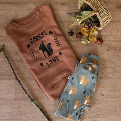 Organic 'Forest Love' Slogan Jumper
