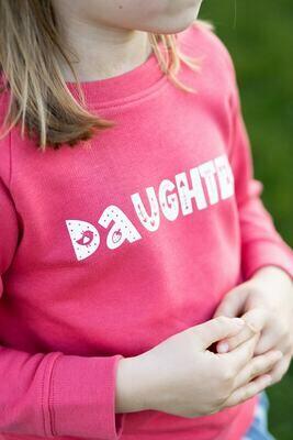 Organic 'Daughter' Slogan Jumper