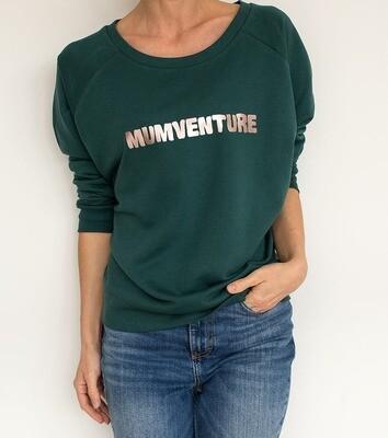 Organic 'Mumventure' Slogan Sweatshirt