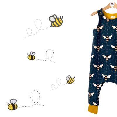 Organic 'Save the Bees' Harem Romper