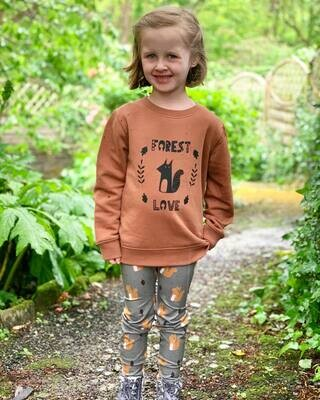 Organic 'Forest Love' Slogan Sweatshirt