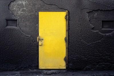 Les portes jaunes I , Bernard BRUGES-RENARD