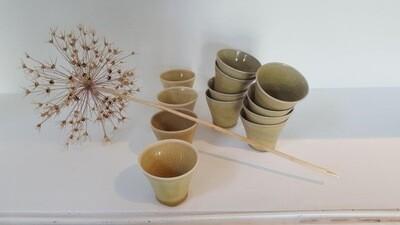 Petits gobelets saké, Alexandra Masson Corbes