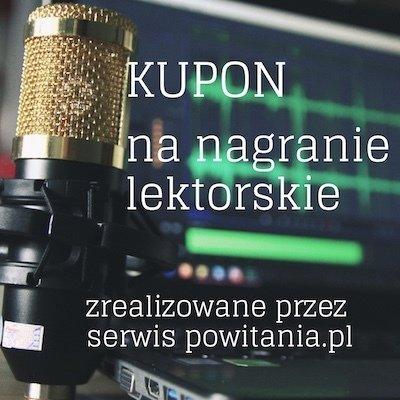 Narracja w wykonaniu lektora Ada - Kupon