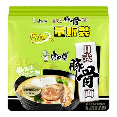 康师傅日式豚骨面五连包 MK Instant Noodles- Japanese Tonkotsu (106gx5)